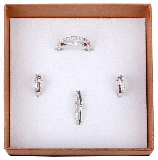 Silver Cat Srebrni prstan s kristali SC118 srebro 925/1000