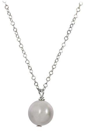 JwL Luxury Pearls Ezüst nyaklánc szürke színű igazgyöngy medállal JL0089 ezüst 925/1000