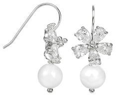JwL Luxury Pearls Stříbrné náušnice s pravou bílou perlou JL0093 stříbro 925/1000