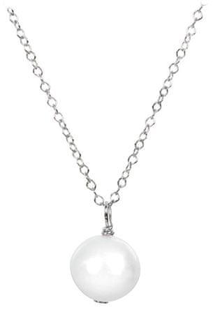 JwL Luxury Pearls Pravá perla bílé barvy na stříbrném řetízku JL0087 stříbro 925/1000