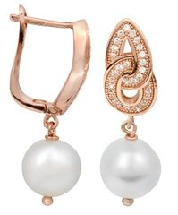 JwL Luxury Pearls Perlové náušnice s bílou pravou perlou JL0094 stříbro 925/1000