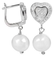 JwL Luxury Pearls Perlové náušnice s bílou pravou perlou JL0103 stříbro 925/1000