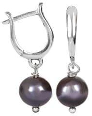 JwL Luxury Pearls Elegantní náušnice s perlou JL0113 stříbro 925/1000
