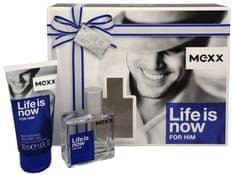 Mexx Życie jest teraz dla niego - woda toaletowa 30 ml + 50 ml żel pod prysznic