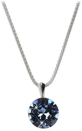 Troli Stříbrný náhrdelník Dentelle 13mm Denim Blue stříbro 925/1000