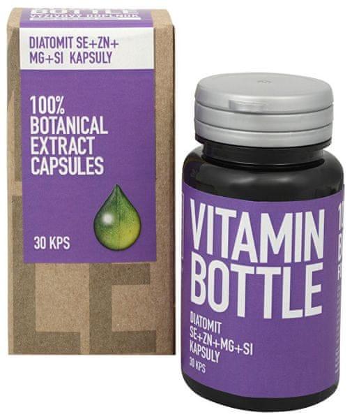 Vitamin-Bottle DIATOMIT Se + Zn + Mg + Si 30 kapslí