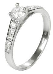 Brilio Dámsky prsteň s kryštálmi 229 001 00668 07 - 1,90 g biele zlato 585/1000