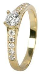 Brilio Dámsky prsteň s kryštálmi 229 001 00668 - 1,85 g žlté zlato 585/1000