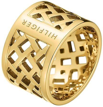 Tommy Hilfiger Originální pozlacený prsten z oceli TH2700750 (Obvod 56 mm)