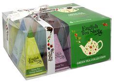 English Tea Shop Darčeková kolekcia 12 pyramídiek Zelený čaj 4 príchute