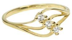 Brilio Dámsky prsteň s kryštálmi 229 001 00546 - 1,25 g žlté zlato 585/1000