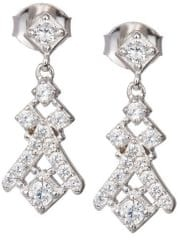 Preciosa Náušnice s krystaly Crystal Way 6021 00 stříbro 925/1000