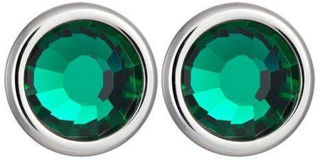 Preciosa Náušnice Carlyn s kryštálom Emerald 7235 66