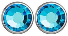 Preciosa Náušnice Carlyn s krystalem Bermuda Blue 7235 46