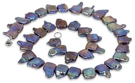 JwL Luxury Pearls Ekstrawagancki naszyjnik z prawdziwych pereł JL0139 srebro 925/1000