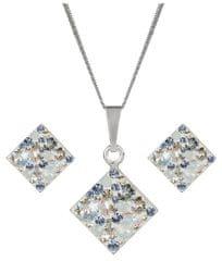 Evolution Group Strieborná súprava trblietavých šperkov 39126.3 striebro 925/1000