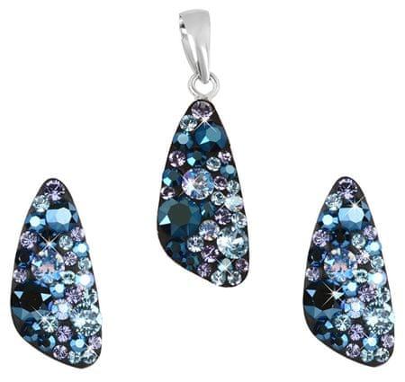 Evolution Group Strieborná súprava šperkov 39167.3 blue style (náušnice, prívesok) striebro 925/1000