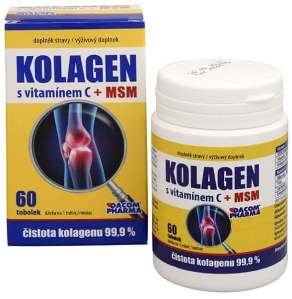 Dacom Pharma Kolagen s vitamínem C + MSM 60 tob.