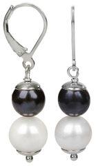 JwL Luxury Pearls Stříbrné náušnice s pravými perlami JL0151 stříbro 925/1000