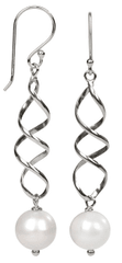 JwL Luxury Pearls Elegantní stříbrné náušnice s pravou bílou perlou JL0158 stříbro 925/1000