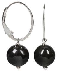 JwL Luxury Pearls Stříbrné náušnice s hematitem JL0152 stříbro 925/1000