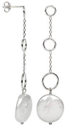 JwL Luxury Pearls Srebrne kolczyki z białą perłą prawej JL0159 srebro 925/1000