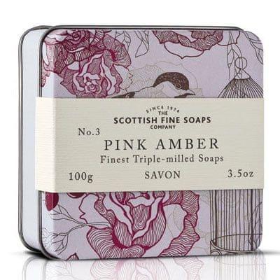Scottish Fine Soap Mydło Różowy Arkusz ambra 100 g