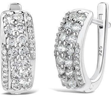 985130fc6ec Silvego Luxusní stříbrné náušnice Reina FNJE0864 stříbro 925 1000