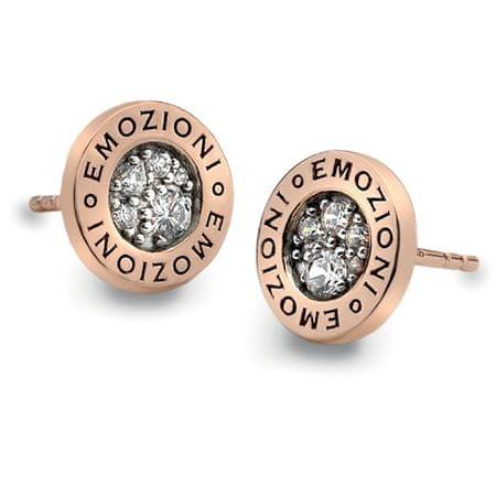 Hot Diamonds Srebrne kolczyki Hot Diamonds Emozioni Pianeta Złota Róża DE403 srebro 925/1000