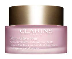 Clarins Krem na dzień drobne zmarszczki dla wszystkich typów skóry Multi-Active (przeciwutleniacz Krem na dz