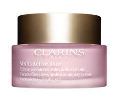 Clarins Krem na dzień drobne zmarszczki normalnej do suchej skóry Multi-Active (przeciwutleniacz Krem na dzi