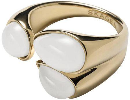 Skagen Módne zlatý prsteň SKJ0747710 (Obvod 57 mm)