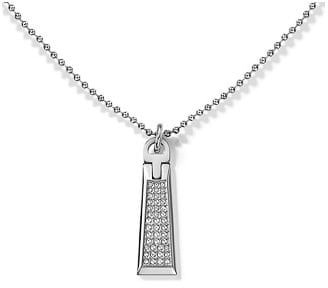 Tommy Hilfiger Oceľový náhrdelník so zipsom s kryštálmi TH2700718