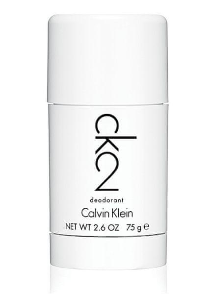 Calvin Klein CK2 - tuhý deodorant 75 ml