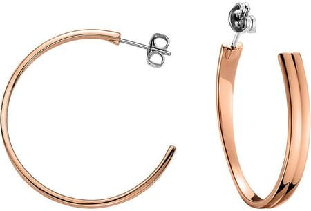 Tommy Hilfiger Brąz kolczyki stalowe pierścienie TH2700731