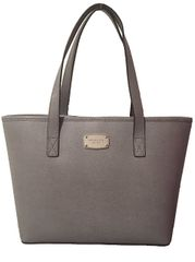 Michael Kors Kožená business kabelka Jet Set Saffiano Leather Tote Grey