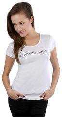 Dámske biele tričko Byť sám sebou dab08508aea