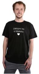 Pánske čierne tričko Robím to s láskou 80b7aadf7f3