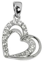 Silver Cat Ezüst medál a szív alakú kristályokkal SC169 ezüst 925/1000