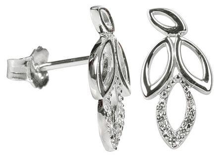 Silver Cat Srebrne kolczyki z kryształami pozostawia SC150 srebro 925/1000