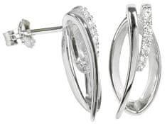 Silver Cat Stříbrné náušnice s krystaly SC162 stříbro 925/1000