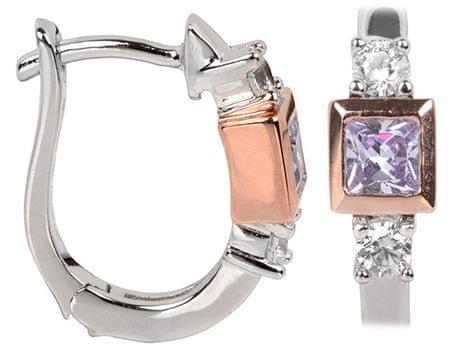 Silver Cat Srebra kolczyków z kryształami SC147 srebro 925/1000