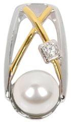 Silver Cat Ezüst medál gyönggyel és kristállyal SC152 ezüst 925/1000