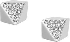Fossil Ocelové náušnice s krystaly JF01990040