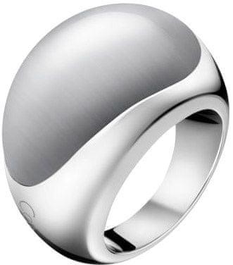 Calvin Klein pierścień ze stali nierdzewnej z kamienia Ellipse KJ3QWR0201 (obwód 57 mm)