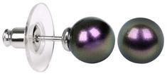 Troli Náušnice Pearl Iridescent Purple