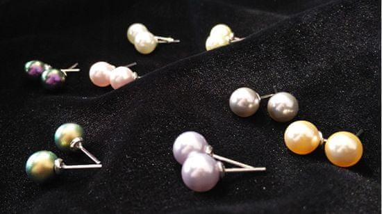 Troli Kolczyki Pearl Light Grey