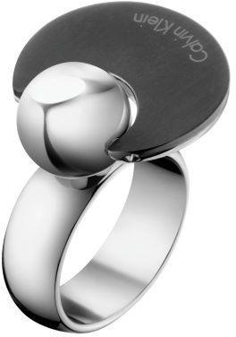 Calvin Klein Pierścień naprzeciwko stali KJ3ZBR2801 (obwód 55 mm)