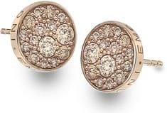 Hot Diamonds Stříbrné náušnice Hot Diamonds Emozioni Scintilla Champagne Rose DE455 stříbro 925/1000