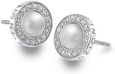 Hot Diamonds Stříbrné náušnice Hot Diamonds Emozioni Giove Pearl DE460 stříbro 925/1000